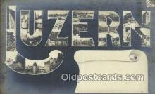 LLT201832 - Luzern USA Large Letter Town Vintage Postcard Old Post Card Antique Postales, Cartes, Kartpostal
