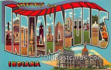 LLT300002 - Indianapolis Indiana, USA Postcard Post Cards