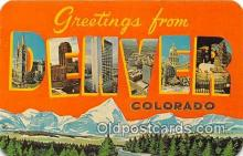 LLT300008 - Denver Colorado, USA Postcard Post Cards