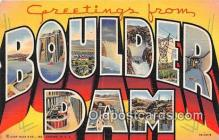 LLT300014 - Boulder Dam Nevada, USA Postcard Post Cards