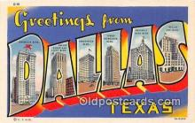 LLT300028 - Dallas Texas, USA Postcard Post Cards