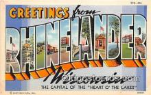 LLT300049 - Rhinelander Wisconsin, USA Postcard Post Cards