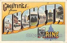 LLT300061 - Augusta Maine, USA Postcard Post Cards
