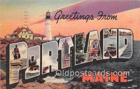 LLT300064 - Portland Maine, USA Postcard Post Cards