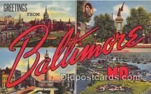 LLT300065 - Baltimore Maryland, USA Postcard Post Cards