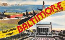 LLT300070 - Baltimore Maryland, USA Postcard Post Cards