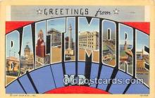 LLT300071 - Baltimore Maryland, USA Postcard Post Cards