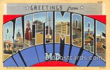 LLT300074 - Baltimore Maryland, USA Postcard Post Cards