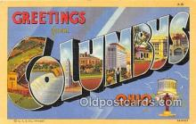 LLT300082 - Columbus Ohio, USA Postcard Post Cards