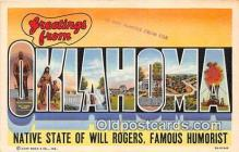 LLT300092 - Will Rogers Oklahoma, USA Postcard Post Cards