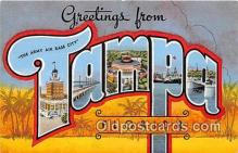 LLT300103 - Tampa Florida, USA Postcard Post Cards