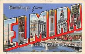 LLT300116 - Elmira New York, USA Postcard Post Cards