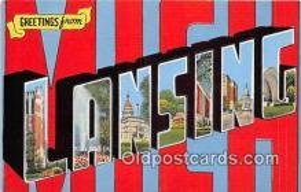 LLT300118 - Lansing Michigan, USA Postcard Post Cards