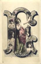 let001026 - E Old Vintage Antique Postcard Post Card