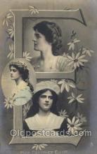 let001028 - E Old Vintage Antique Postcard Post Card