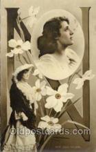 let001054 - N Old Vintage Antique Postcard Post Card