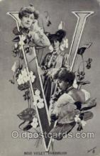 let001064 - V Old Vintage Antique Postcard Post Card