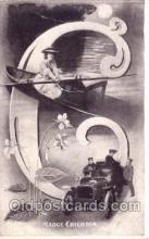 let001066 - C Old Vintage Antique Postcard Post Card