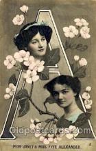 let001095 - A Old Vintage Antique Postcard Post Card