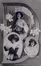 let001103 - Miss Zena Dare Old Vintage Antique Postcard Post Card