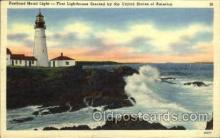 lgh001 - Portland Head Light, Oregon Light House, Houses Postcard Postcards