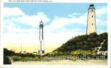 lgh001002 - Cape Henry, VA Light House, Houses Lighthouse, Postcard Postcards