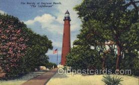 lgh001004 - Daytona Beach, FL Light House, Houses Lighthouse, Postcard Postcards