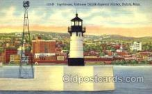 lgh001006 - Duluth-Superior Harbor, MN Light House, Houses Lighthouse, Postcard Postcards