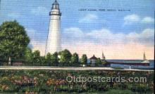 lgh001009 - Port Huron, MI Light House, Houses Lighthouse, Postcard Postcards