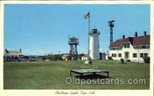 lgh001017 - Chatham Light, Cape Cod, MA Light House, Houses Lighthouse, Postcard Postcards