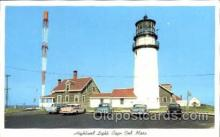 lgh001019 - Highland Light, Cape Cod, MA Light House, Houses Lighthouse, Postcard Postcards