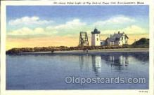 lgh001021 - Provincetown, MA Light House, Houses Lighthouse, Postcard Postcards