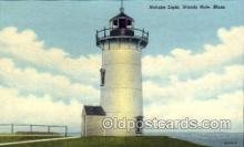 lgh001022 - Nobska Light, Woods Hole, MA Light House, Houses Lighthouse, Postcard Postcards