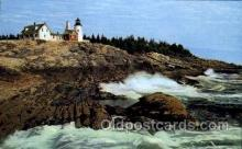 lgh001035 - Rockbound Coast, ME Light House, Houses Lighthouse, Postcard Postcards