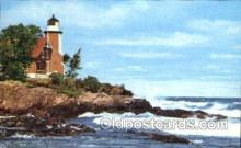 lgh001037 - Eagle Harbor, MI Light House, Houses Lighthouse, Postcard Postcards