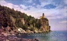 lgh001041 - Splitrock Lighthouse, Lake Superior, MN Light House, Houses Lighthouse, Postcard Postcards