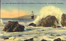 lgh001046 - Mile Rock, San Francisco, CA Light House, Houses Lighthouse, Postcard Postcards