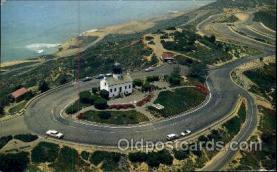 lgh001048 - Cabrillo National Monument, San Diego, CA Light House, Houses Lighthouse, Postcard Postcards