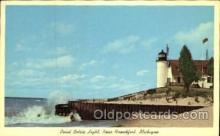 lgh001050 - Point Betsie, Frankfort, MI Light House, Houses Lighthouse, Postcard Postcards