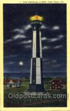 lgh001060 - Cape Henry, VA Light House, Houses Lighthouse, Postcard Postcards