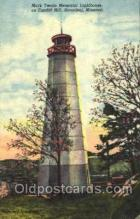 lgh001064 - Mark Twain Memorial, Hannibal, MO Light House, Houses Lighthouse, Postcard Postcards
