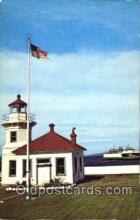 lgh001071 - Puget Sound, Washington Light House, Houses Lighthouse, Postcard Postcards