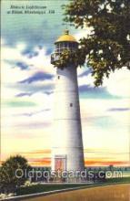 lgh001077 - Biloxi, MS Light House, Houses Lighthouse, Postcard Postcards
