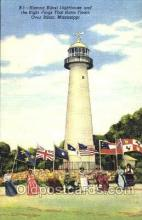 lgh001085 - Biloxi, MS Light House, Houses Lighthouse, Postcard Postcards