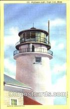 lgh001086 - Highland Light, Cape Cod, MA Light House, Houses Lighthouse, Postcard Postcards