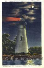 lgh001087 - Marblehead Lighthouse, Lakeside, Ohio Light House, Houses Lighthouse, Postcard Postcards