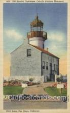 lgh001100 - Old Spanish lighthouse, Cabrillo National Monument USA Lighthouse, Lighthouses Postcard Postcards