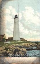lgh001102 - Old Lighthouse, New Haven, Conn, USA USA Lighthouse, Lighthouses Postcard Postcards