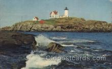 lgh001131 - Nubble Light York Beach, Maine, USA USA Lighthouse, Lighthouses Postcard Postcards