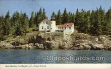 lgh001133 - Bass Harbor Head light MT. Desert Island, Maine USA Lighthouse, Lighthouses Postcard Postcards